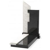 Памятник эксклюзивный ЭК-8 Чёрный/Белый (1350*650 мм)