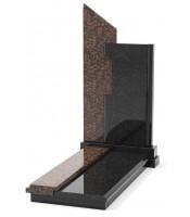 Памятник эксклюзивный ЭК-8 Чёрный/Коричневый (1350*650 мм)