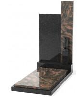 Памятник эксклюзивный ЭК-7 А Чёрный/Коричневый (1400*700 мм)
