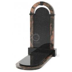 Памятник эксклюзивный ЭК-18 Чёрный/Коричневый (1400*750 мм)
