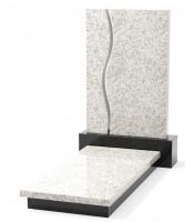 Памятник эксклюзивный ЭК-11 А Чёрный/Белый (1400*650 мм)
