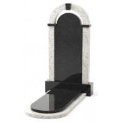 Памятник эксклюзивный ЭК-18 Чёрный/Белый (1400*750 мм)