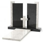 Памятник эксклюзивный ЭК-20 Чёрный/Белый (1300*1200 мм)