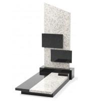 Памятник эксклюзивный ЭК-8 А Чёрный/Белый (1400*700 мм)