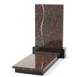Памятник эксклюзивный ЭК-11 А Чёрный/Коричневый (1400*650 мм)