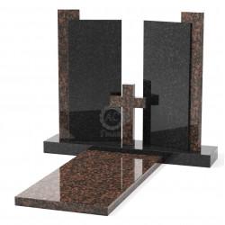 Памятник эксклюзивный ЭК-20 Чёрный/Коричневый (1300*1200 мм)