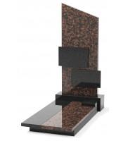 Памятник эксклюзивный ЭК-8 А Чёрный/Коричневый (1400*700 мм)