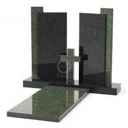 Памятник эксклюзивный ЭК-20 Чёрный/Зелёный (1300*1200 мм)