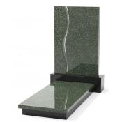 Памятник эксклюзивный ЭК-11 А Чёрный/Зелёный (1400*650 мм)