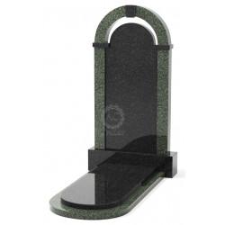 Памятник эксклюзивный ЭК-18 Чёрный/Зелёный (1400*750 мм)