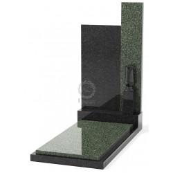Памятник эксклюзивный ЭК-7 А Чёрный/Зелёный (1400*700 мм)