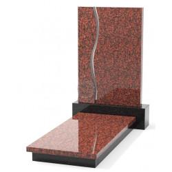 Памятник эксклюзивный ЭК-11 А Чёрный/Красный (1400*650 мм)