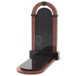 Памятник эксклюзивный ЭК-18 Чёрный/Красный (1400*750 мм)