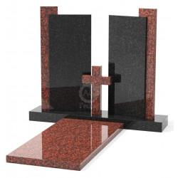 Памятник эксклюзивный ЭК-20 Чёрный/Красный (1300*1200 мм)
