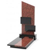 Памятник эксклюзивный ЭК-8 А Чёрный/Красный (1400*700 мм)