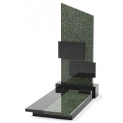 Памятник эксклюзивный ЭК-8 А Чёрный/Зелёный (1400*700 мм)