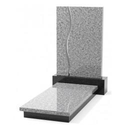 Памятник эксклюзивный ЭК-11 А Чёрный/Серый (1400*650 мм)