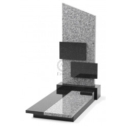 Памятник эксклюзивный ЭК-8 А Чёрный/Серый (1400*700 мм)