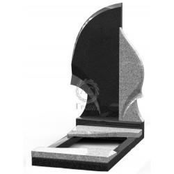 Памятник эксклюзивный ЭК-1 Чёрный/Светло-серый (1400*700 мм)