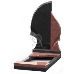 Памятник эксклюзивный ЭК-1 Чёрный/Красный (1400*700 мм)