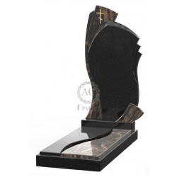 Памятник эксклюзивный ЭК-5 Чёрный/Коричневый (1350*600 мм)