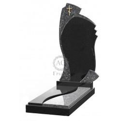 Памятник эксклюзивный ЭК-5 Голубой/Чёрный (1350*600 мм)