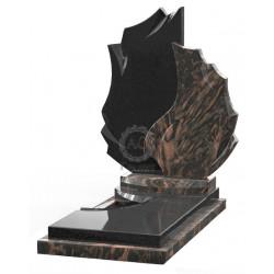 Памятник эксклюзивный ЭК-2 Чёрный/Коричневый (1510*800 мм)