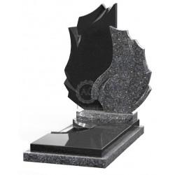 Памятник эксклюзивный ЭК-2 Чёрный/Голубой (1510*800 мм)
