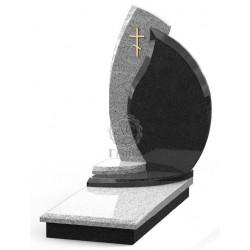 Памятник эксклюзивный ЭК-4 Серый/Чёрный (1380*650 мм)