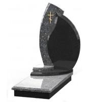 Памятник эксклюзивный ЭК-4 Голубой/Чёрный (1380*650 мм)