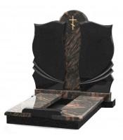 Памятник эксклюзивный ЭК-22 Чёрный/Коричневый (1350*950 мм)