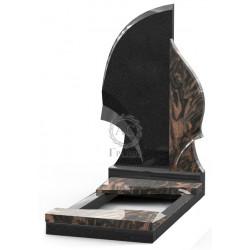 Памятник эксклюзивный ЭК-1 Чёрный/Коричневый (1400*700 мм)