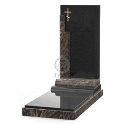 Памятник эксклюзивный ЭК-12 Чёрный/Коричневый (1410*600 мм)
