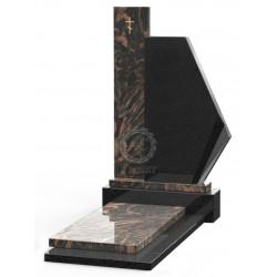 Памятник эксклюзивный ЭК-13 Чёрный/Коричневый (1470*700 мм)