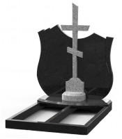 Памятник эксклюзивный ЭК-23 Чёрный/Светло-серый (1300*1200 мм)