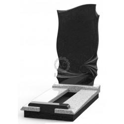 Памятник эксклюзивный ЭК-15 Серый/Чёрный (1400*700 мм)