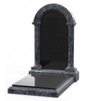 Памятник эксклюзивный ЭК-25 Чёрный/Голубой (1400*800 мм)