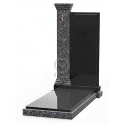 Памятник эксклюзивный ЭК-7 Голубой/Чёрный (1370*660 мм)