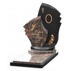 Памятник эксклюзивный ЭК-9 Чёрный/Коричневый (1410*800 мм)