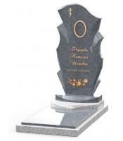 Памятник эксклюзивный ЭК-11 Серый/Голубой (1410*600 мм)