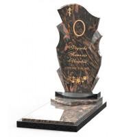 Памятник эксклюзивный ЭК-11 Чёрный/Коричневый (1410*600 мм)