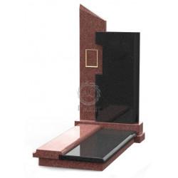 Памятник эксклюзивный ЭК-8 Чёрный/Красный (1350*650 мм)
