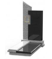 Памятник эксклюзивный ЭК-8 Чёрный/Серый (1350*650 мм)