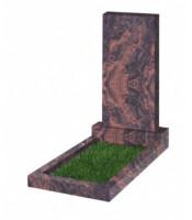 Памятник прямоугольный К-13 Коричневый (1100*500*70 мм)
