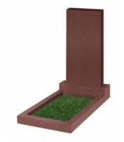 Памятник прямоугольный К-13 Красный (1100*500*70 мм)