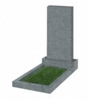 Памятник прямоугольный К-2 Тёмно-серый (800*400*50 мм)