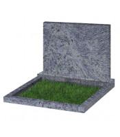 Памятник прямоугольный К-8 Голубой (900*1000*70 мм)