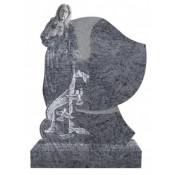 Памятник элитный Э-18 Голубой (1300*1000*120 мм)