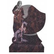 Памятник элитный Э-18 Коричневый (1300*1000*120 мм)