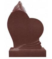Памятник элитный Э-11 Красный (1300*1000*100 мм)
